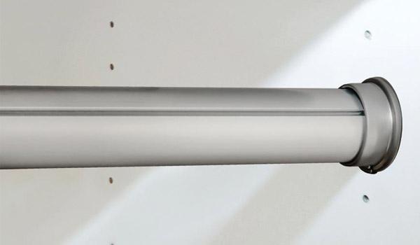 rod brushed chrome round