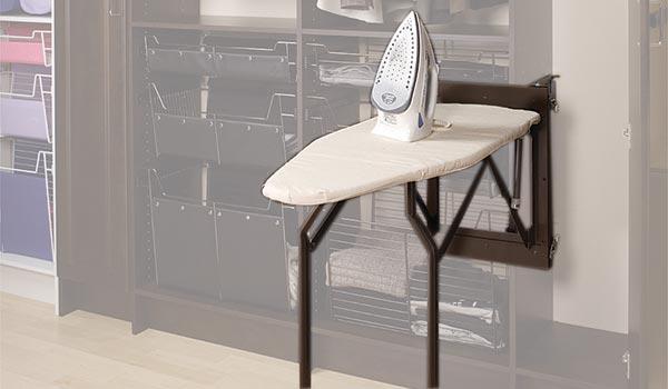 fold-down ironing board