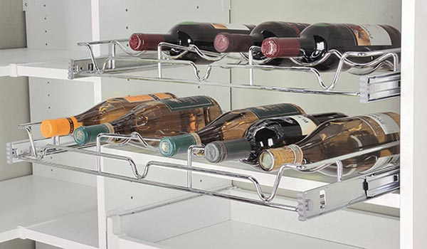 pull out wine rack
