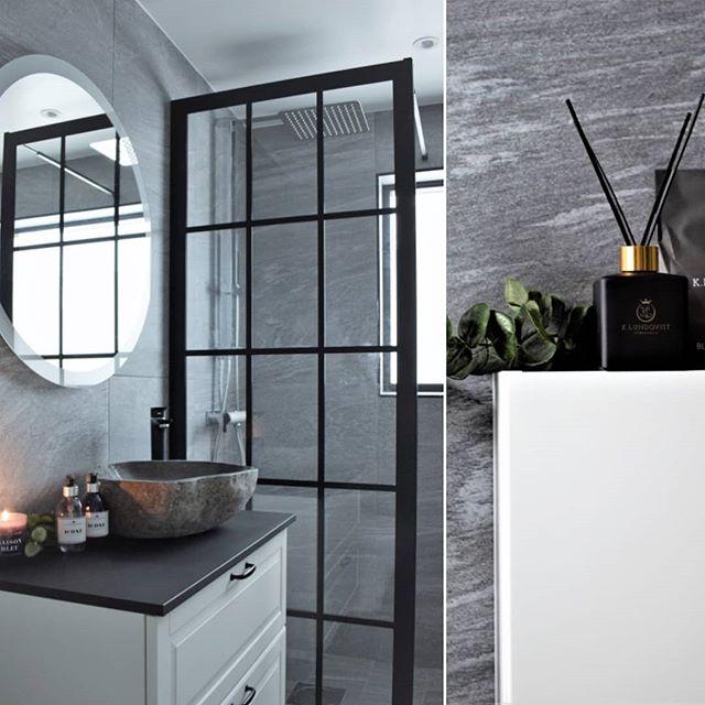 Wow! Vilket resultat 👆👌Hemma hos vår kund @c.lindecrantz som stilfullt inrett sitt badrum med Industrivägg och väl valda detaljer. 😀 . . #industridesign #hemmahoskund #industriglasvägg #industriglas #skandinaviskdesign #inspiration #inspo #badrumsrenovering #badrumsinspo #duschvägg #interiordesign #wow #spröjs #spröjsadefönster #inredning