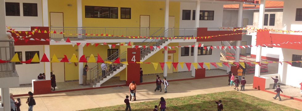 This is the local school, which was built in association with the hospital.