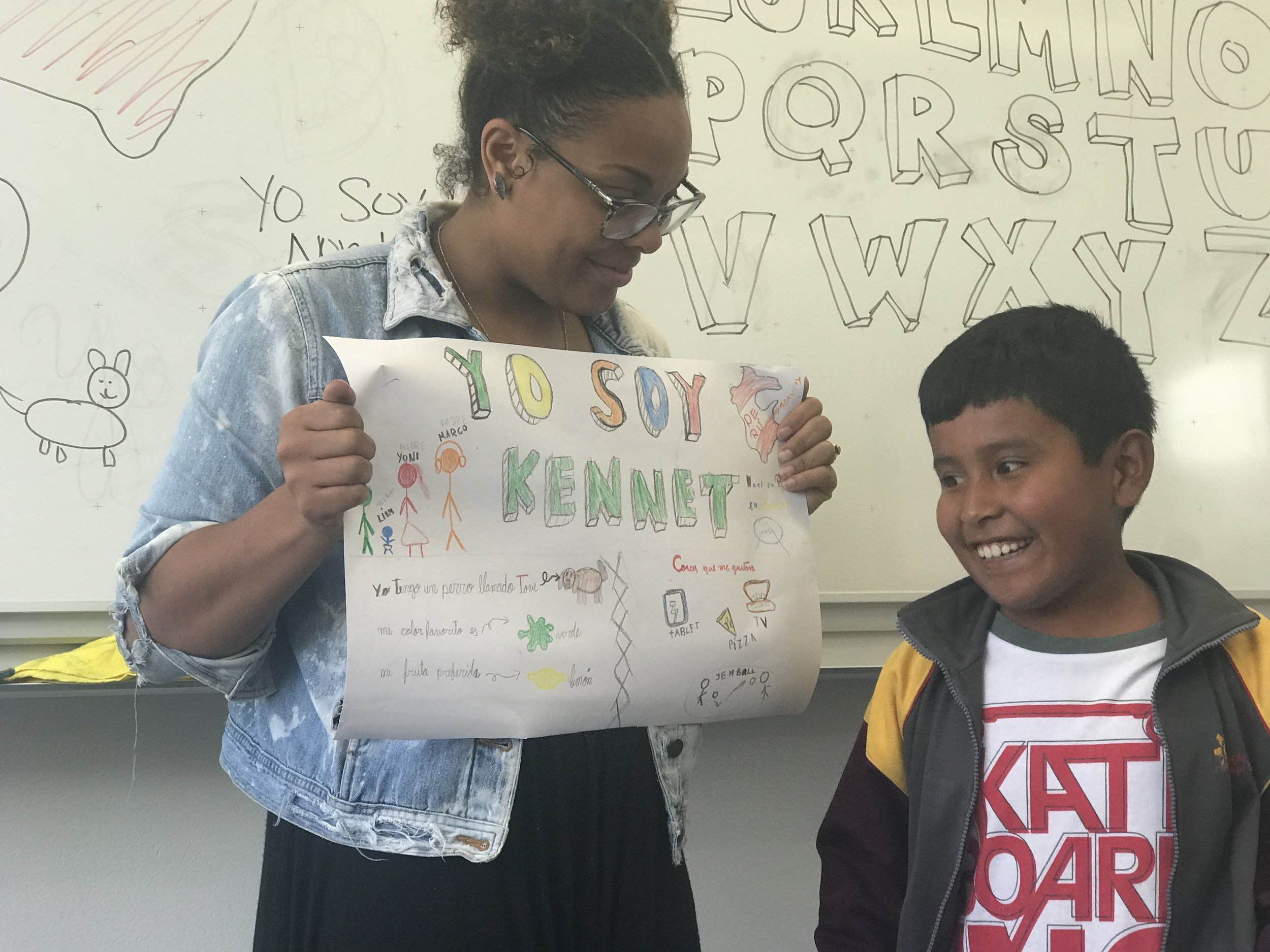 Kenneth is in my 4th grade class, he really loves creating and always goes above and beyond in his projects!