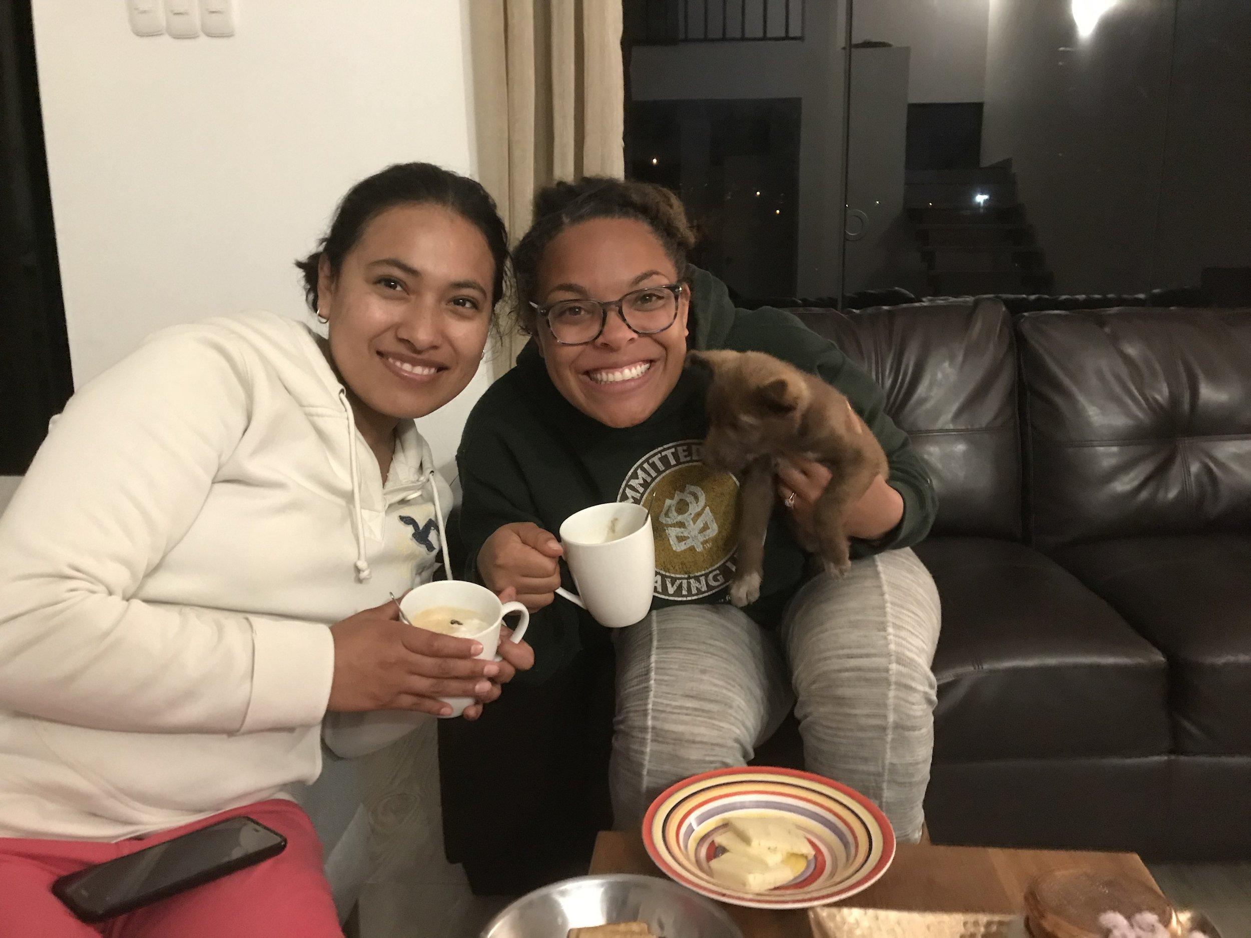 Devyn doing tandem partnership with her friend Flor!