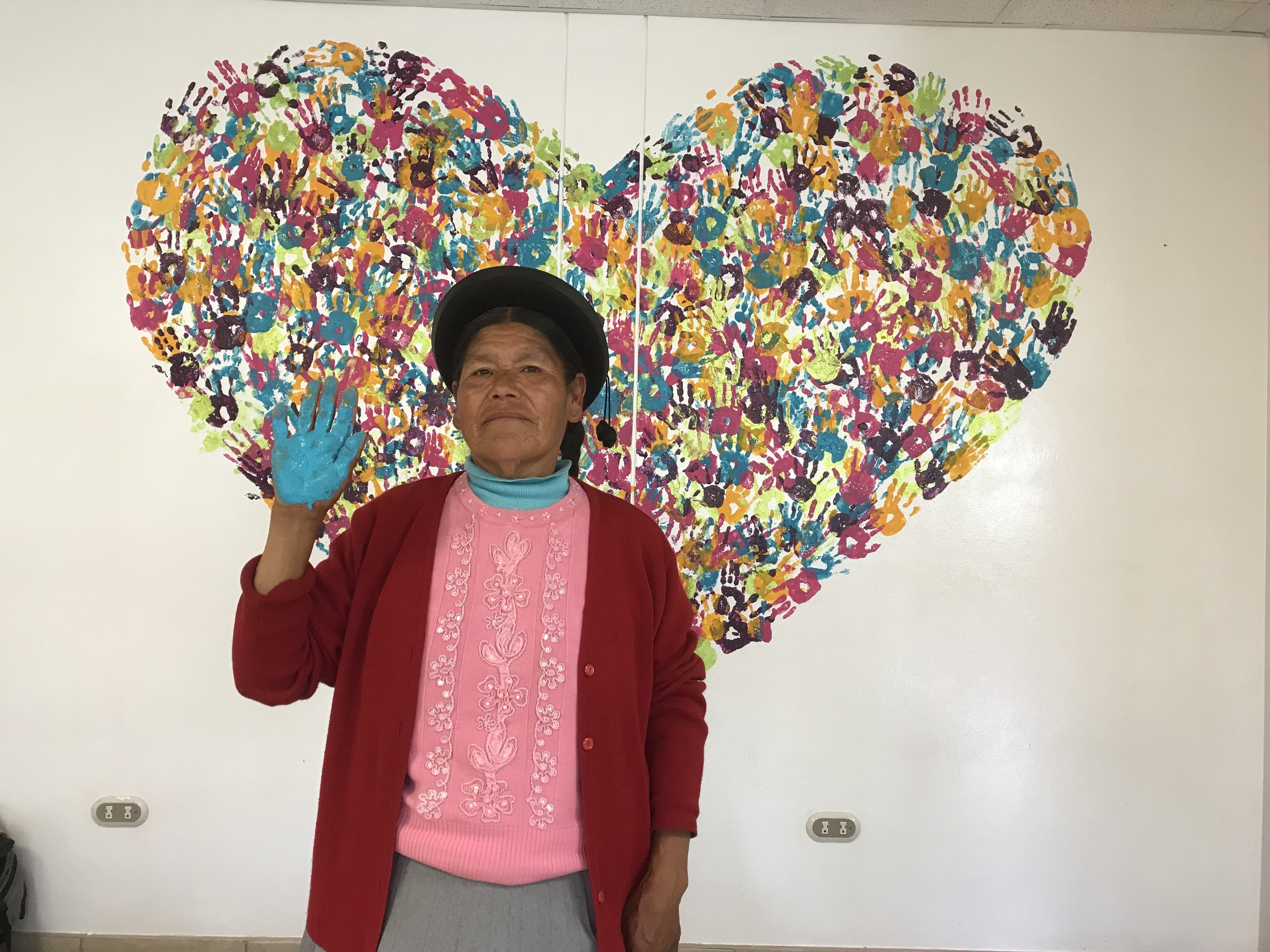 It was really special to see our heart get filled with so many different hands. Everyone from children, and patients, to staff, and missionaries and their families all came to be kid for a little moment, dip their hand in paint and find their place on this big heart. There was definitely a spirit of joy that filled the hospital today. Everyone laughing and some even trying to place their hand full of paint of their coworkers or friend. It really brought people together in a way Julian and I didn't plan on.