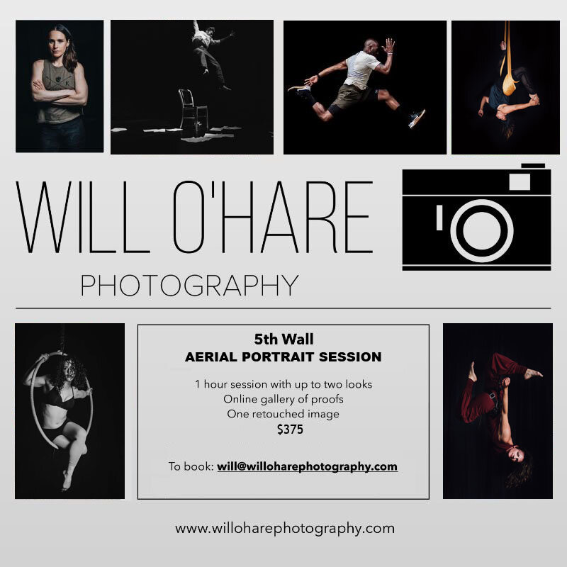 Special Studio Sessions with Will O'Hare - Using any apparatus in the studio or your own, jump on this special opportunity to work with one of our favorite photographers!HARNESS WILL BE $50 EXTRA.