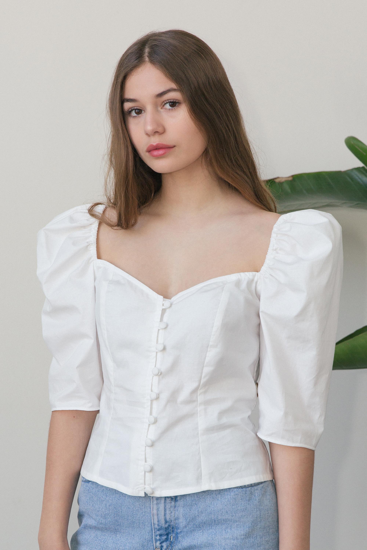 Violette Blouse in White $189