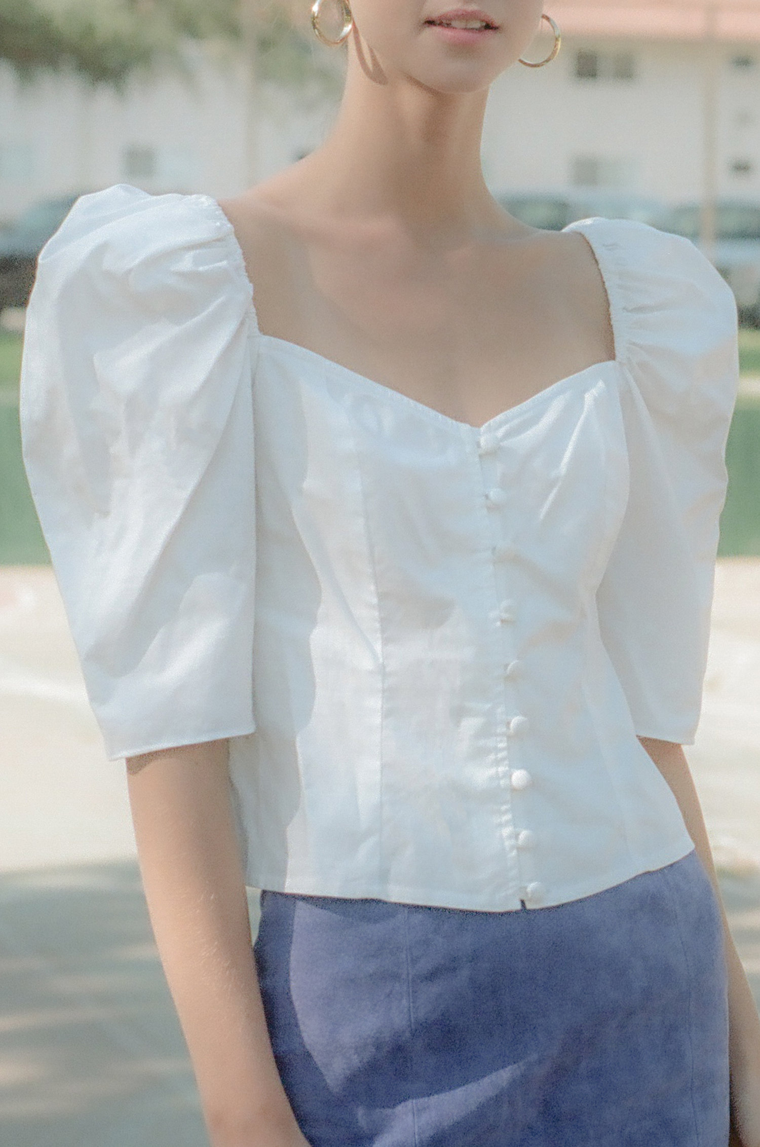Violette Blouse in White $189