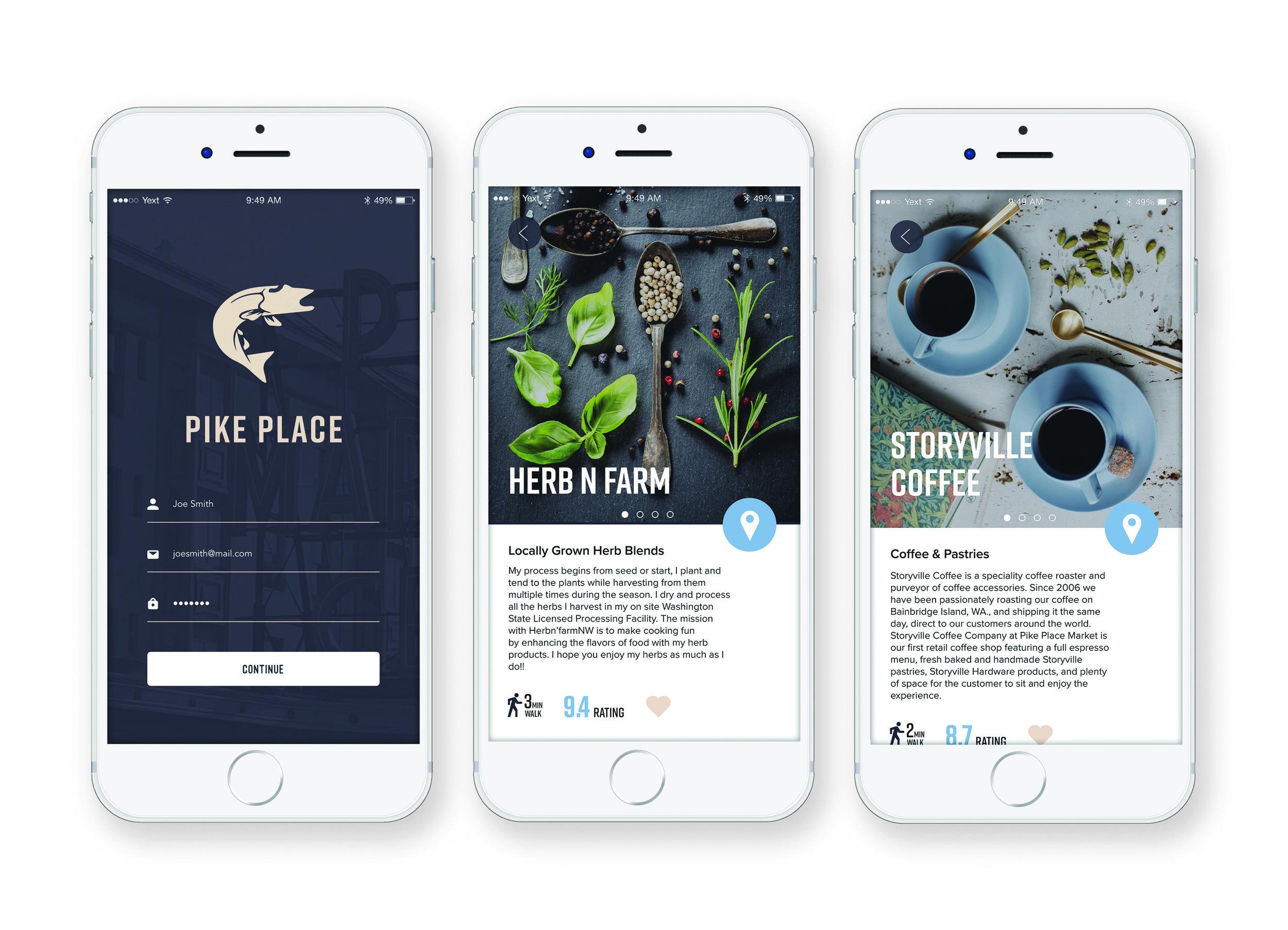 Pike Place App - Wayfinding App Design