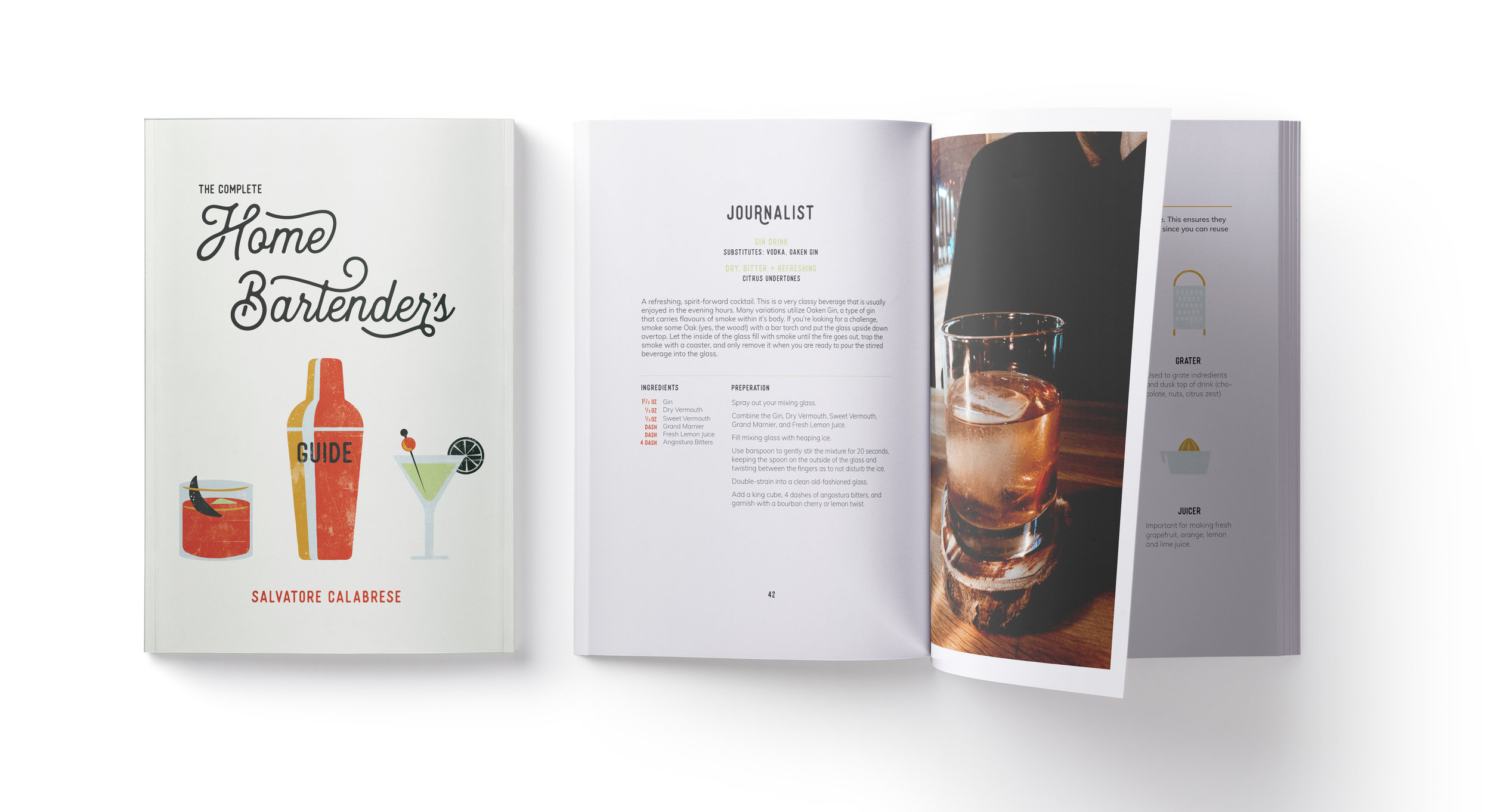 Book Redesign - The Complete Home Bartender's Guide