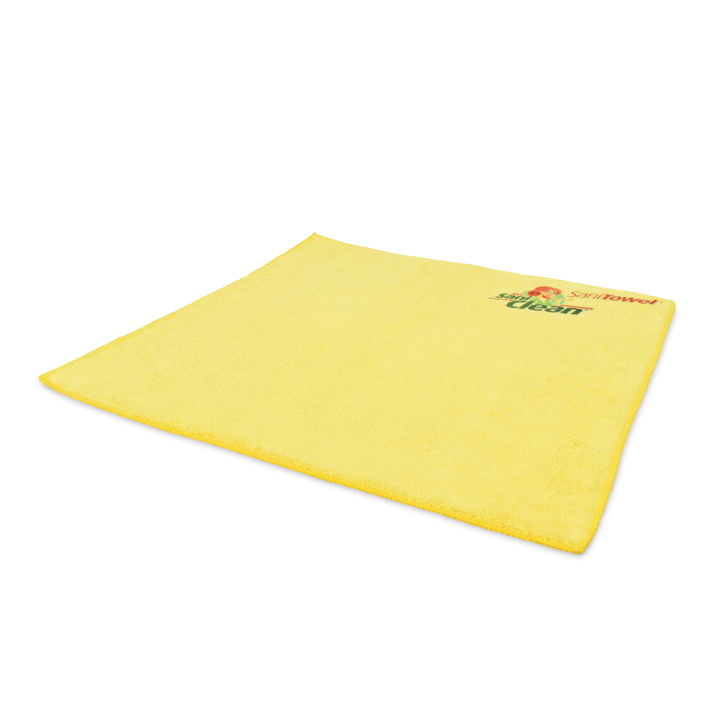 """SaniTowel for Multi-Surfaces - Mrs. SaniClean's SaniTowel for Multi-Surfaces is a 16""""x16"""" microfiber towel for any clean-up job. These washable, re-usable terry-type microfiber towels are made up of hundreds of thousands of split fibers that allow the cloths to clean aggressively without being abrasive or leaving lint behind. They are safe to use on windows, smooth and coarse surfaces and even automotive finishes."""