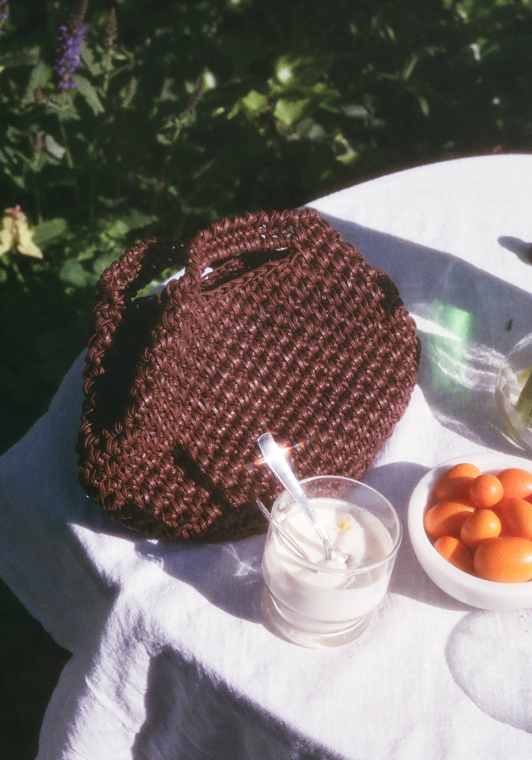 carrie forbes brown knit purse 1.jpg