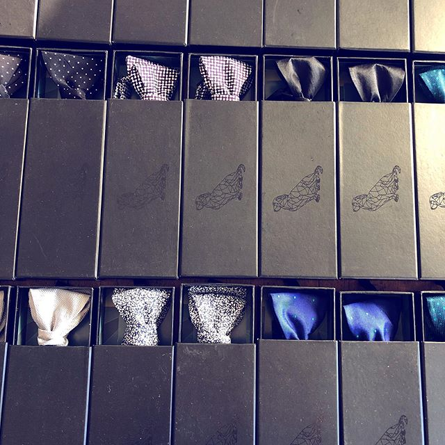 Prepping some of our finest bowties for a gentleman's night. Scotch, custom shirts, suits and bowties - what a combination.