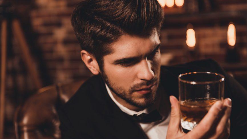 Whisky bow tie gentleman