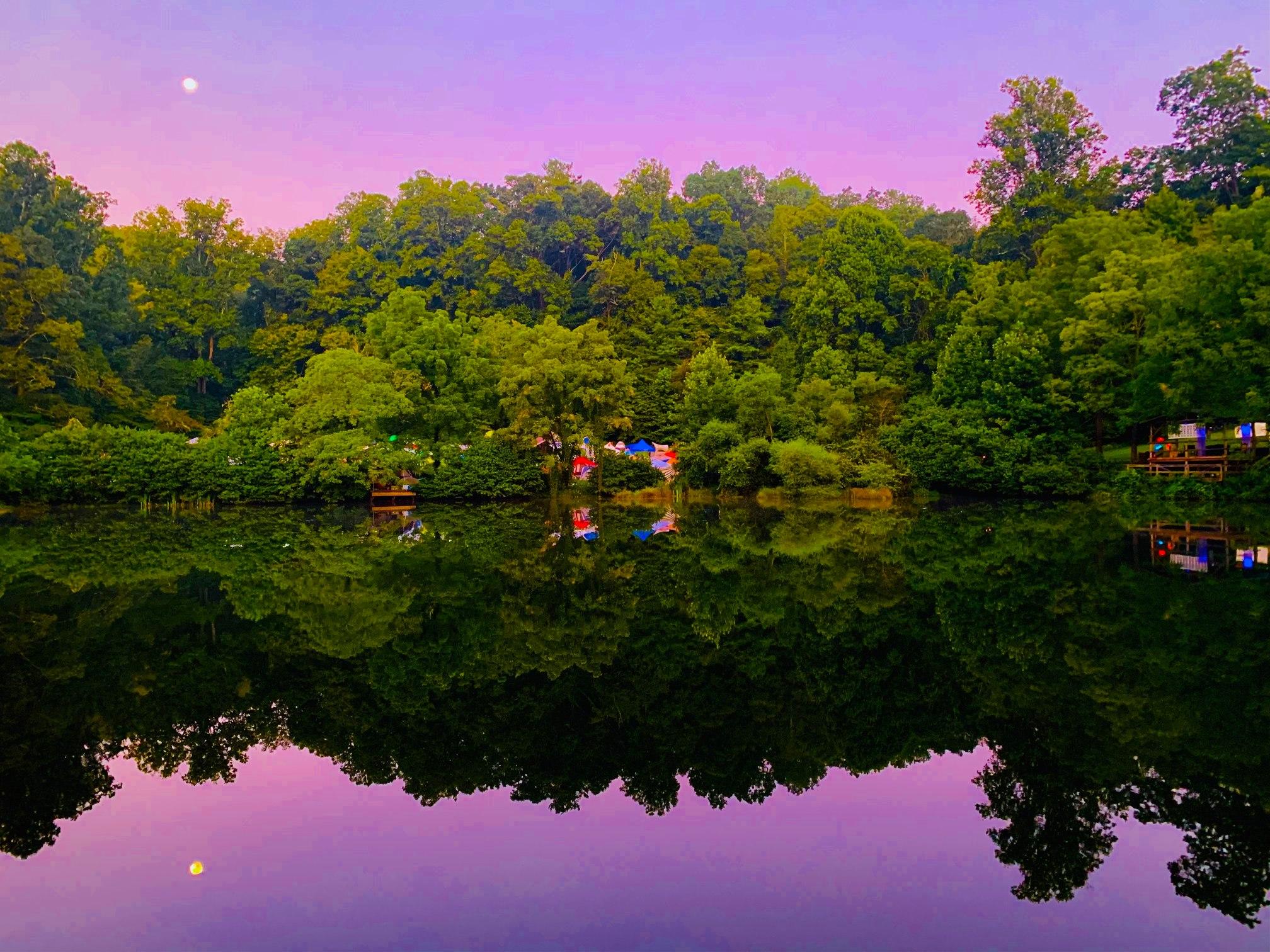The upper lake during sunrise  (Credit:   SuprisinglySimple  )