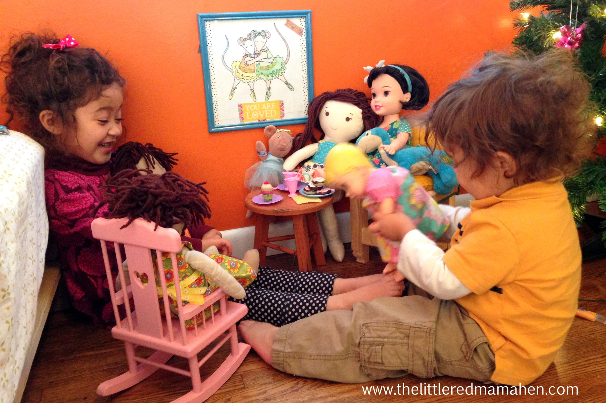 Plastic, plush, or handmade- everyone is welcome at this tea party!