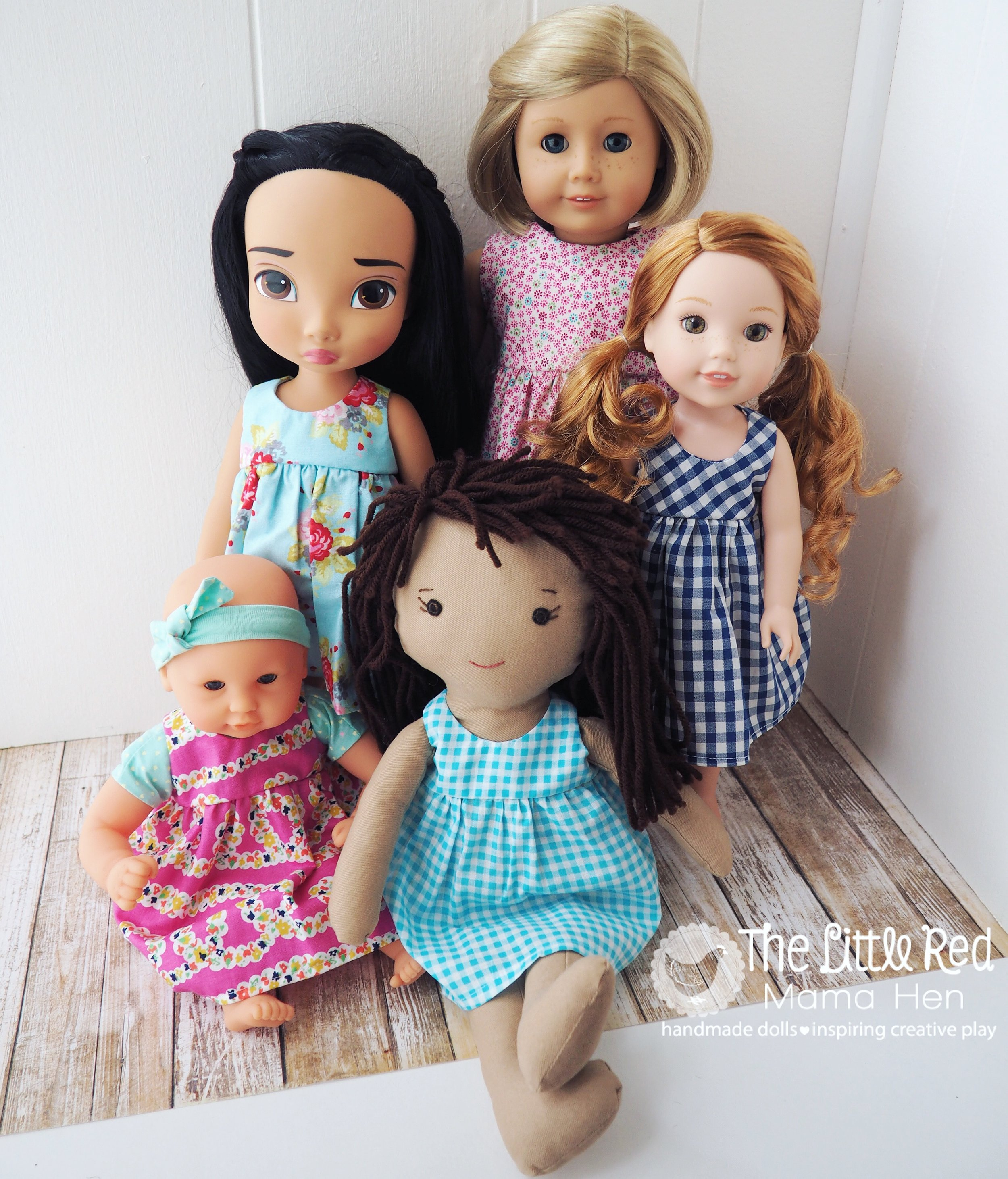 For doll clothes in all sizes, dress up, and accessories to inspire creative play... shop our Etsy Shop!  -