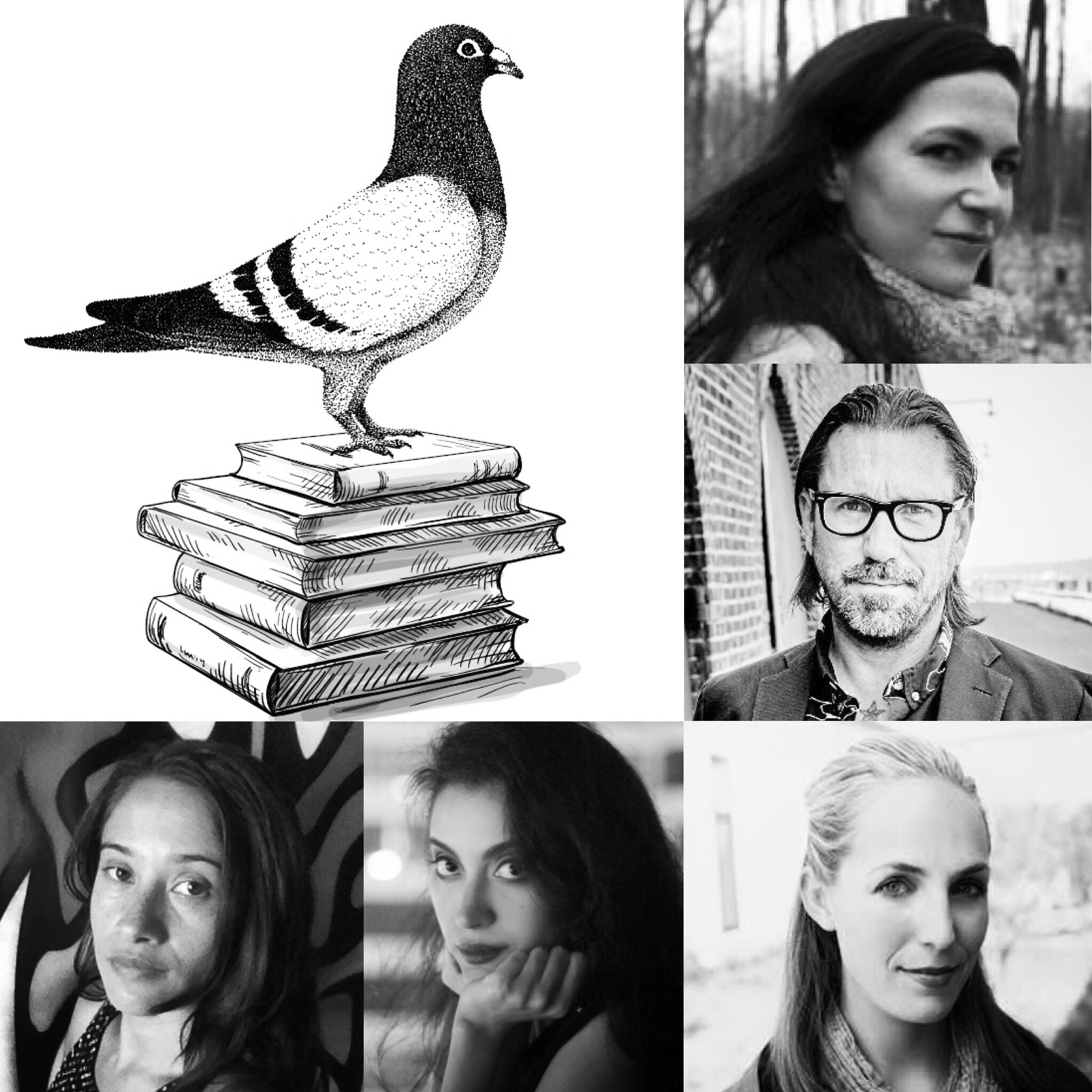 Clockwise, from pigeon: Nelly Reifler, D. Foy, Kaitlin Solimine, Nadra Mabrouk, & H'Rina DeTroy