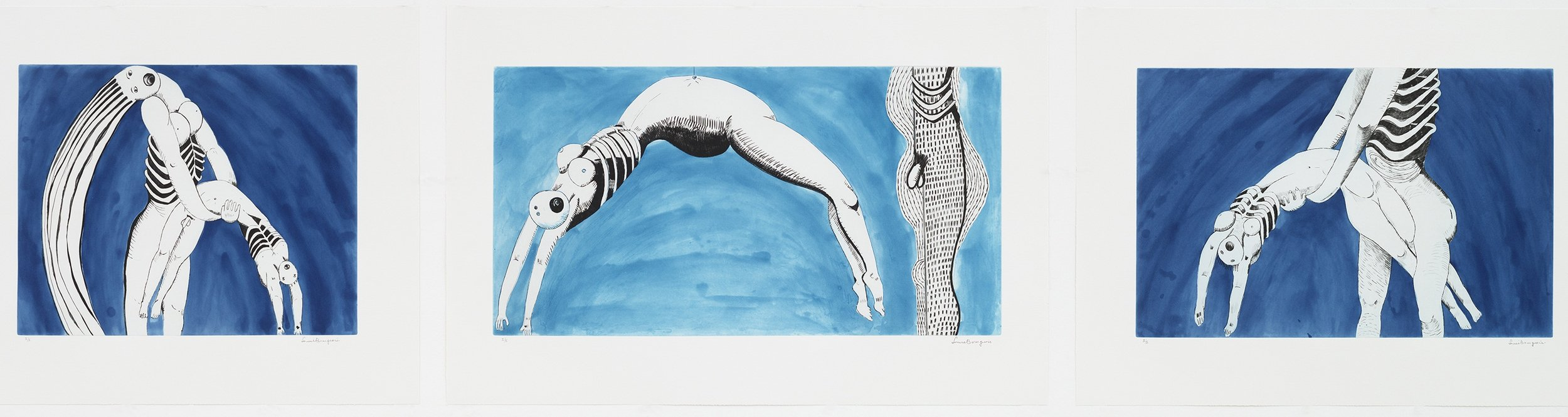 Louise Bourgeois (1911–2010). Triptych for the Red Room. 1994. The Museum of Modern Art, New York. Gift of the artist. © 2017 The Easton Foundation/Licensed by VAGA, NY