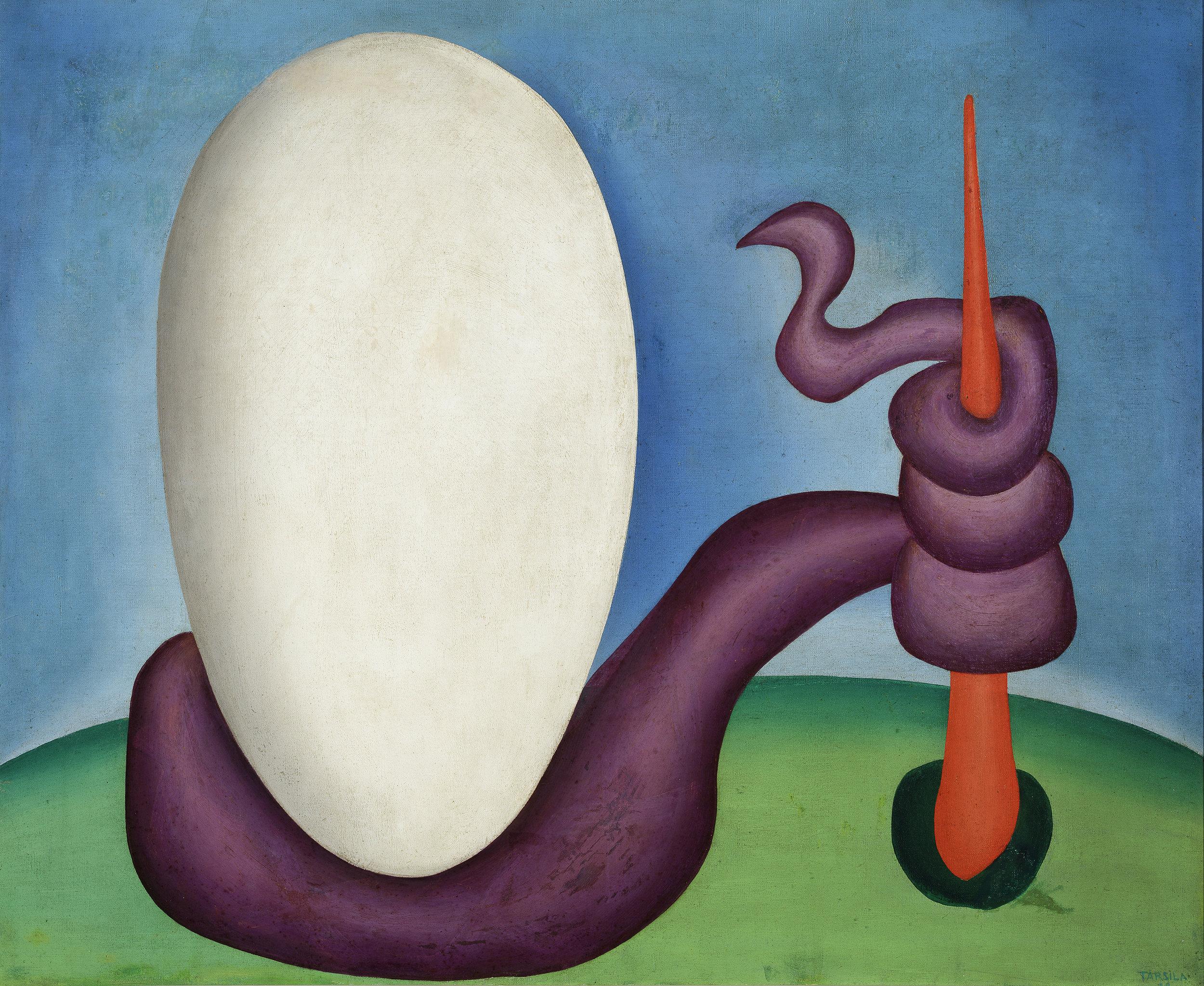 Tarsila do Amaral. Urutu Viper (Urutu). 1928. Oil on canvas. © Tarsila do Amaral Licenciamentos.