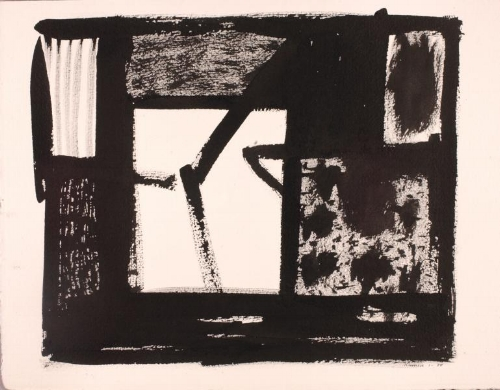 Jacob Kainen, Sanctum, 1980, brush and ink on paper, Smithsonian American Art Museum, Gift of Christopher and Alexandra Middendorf, 1991.7.4.