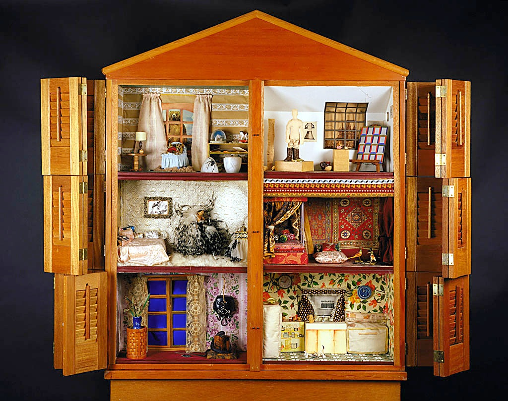 Miriam Schapiro, Dollhouse, 1972, wood and mixed media, Smithsonian American Art Museum, Museum purchase through the Gene Davis Memorial Fund, 1997.112A-B