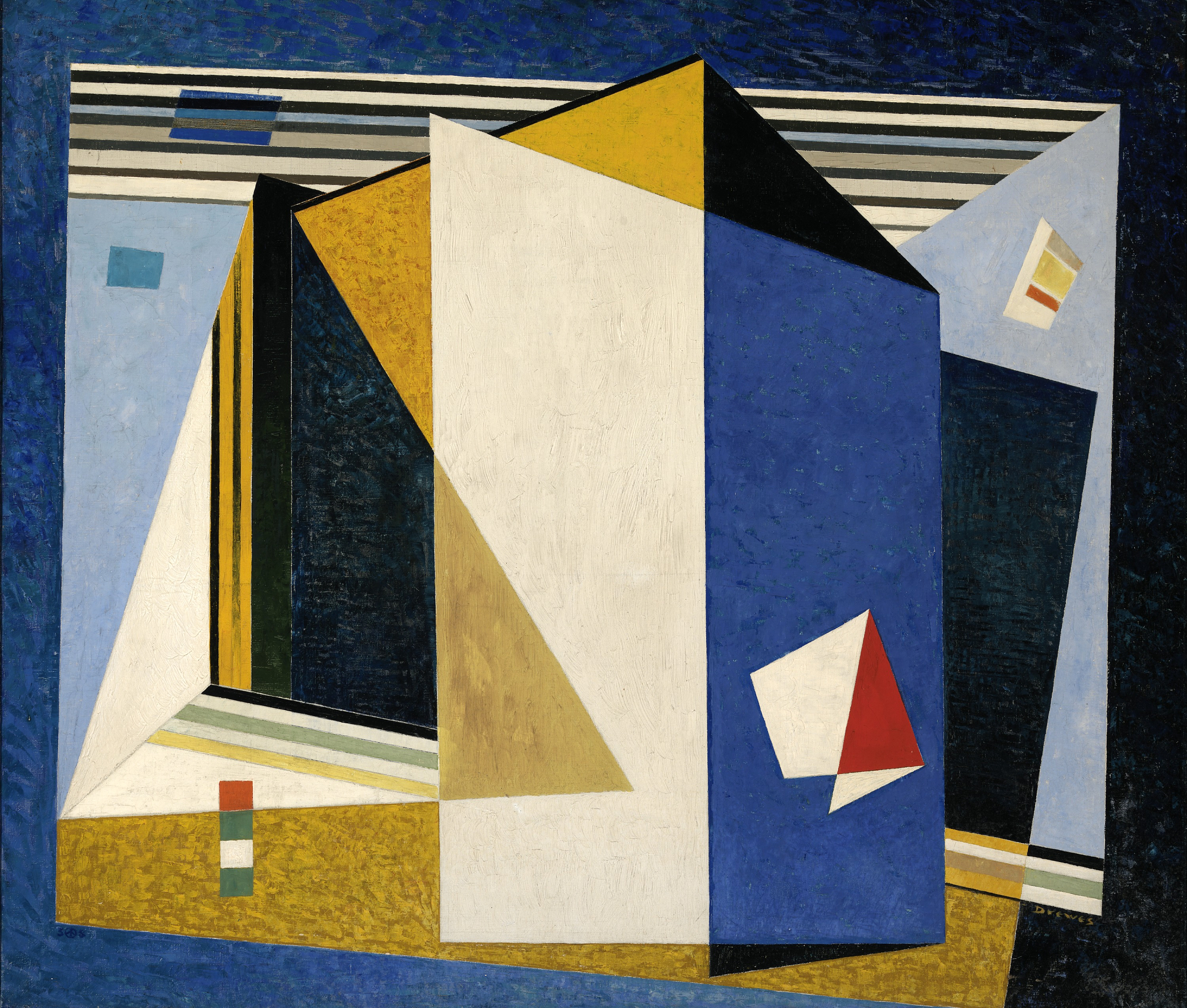 Werner Drewes, In the Blue Space, 1938, oil on canvas, Smithsonian American Art Museum, Gift of the artist, 1975.115