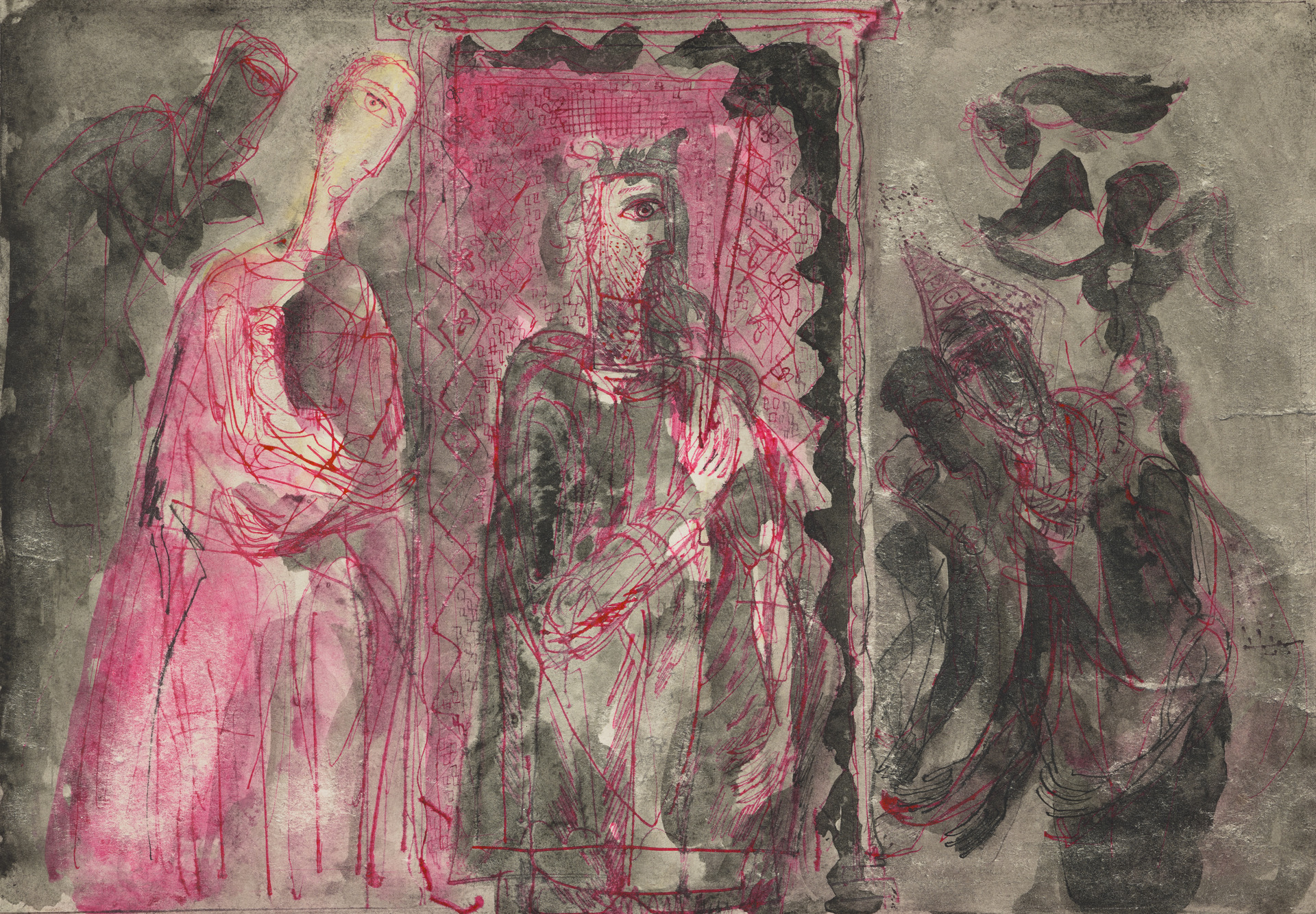 Aleksander Zyw, Untitled [Z 392], 1950-51. Watercolor, pen, colored ink and ink wash on paper. © The Estate of the Artist.