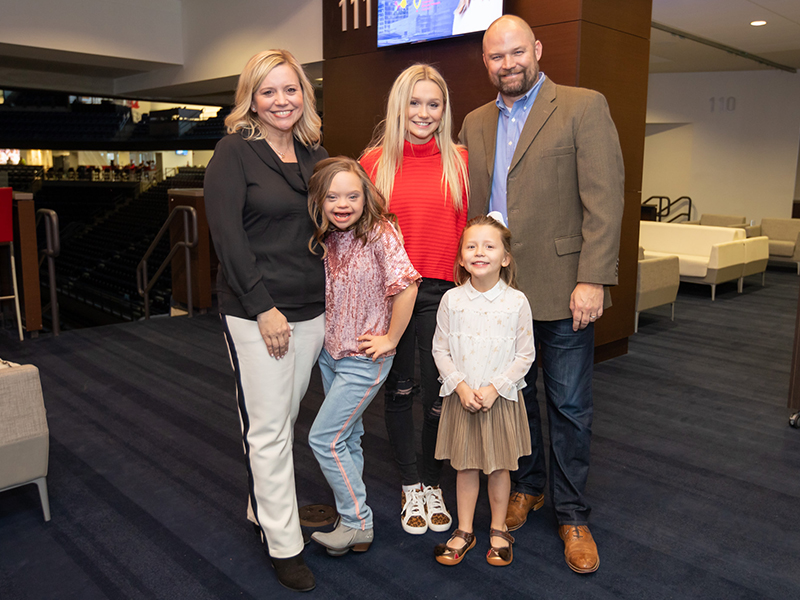 Mississippi's 2019 Children's Miracle Network Hospitals Champion, Aubrey Armstrong, with her family