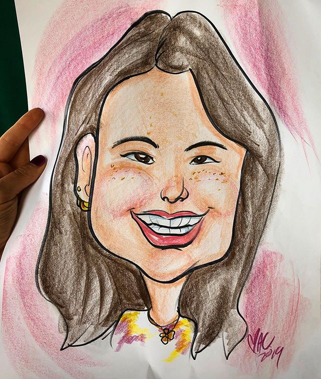 I got my caricature drawn at the zoo. My self-esteem has never been lower.  #sydapproved #fromthegutofsyd