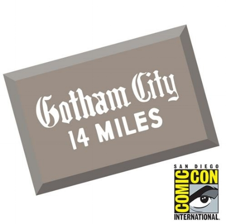 Adlane H - Batman '66 Gotham City Metal Sign