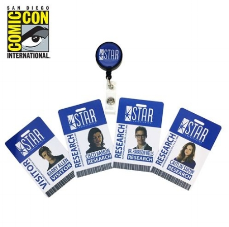 Tracy S - The Flash STAR Labs Retractable ID Badge Set