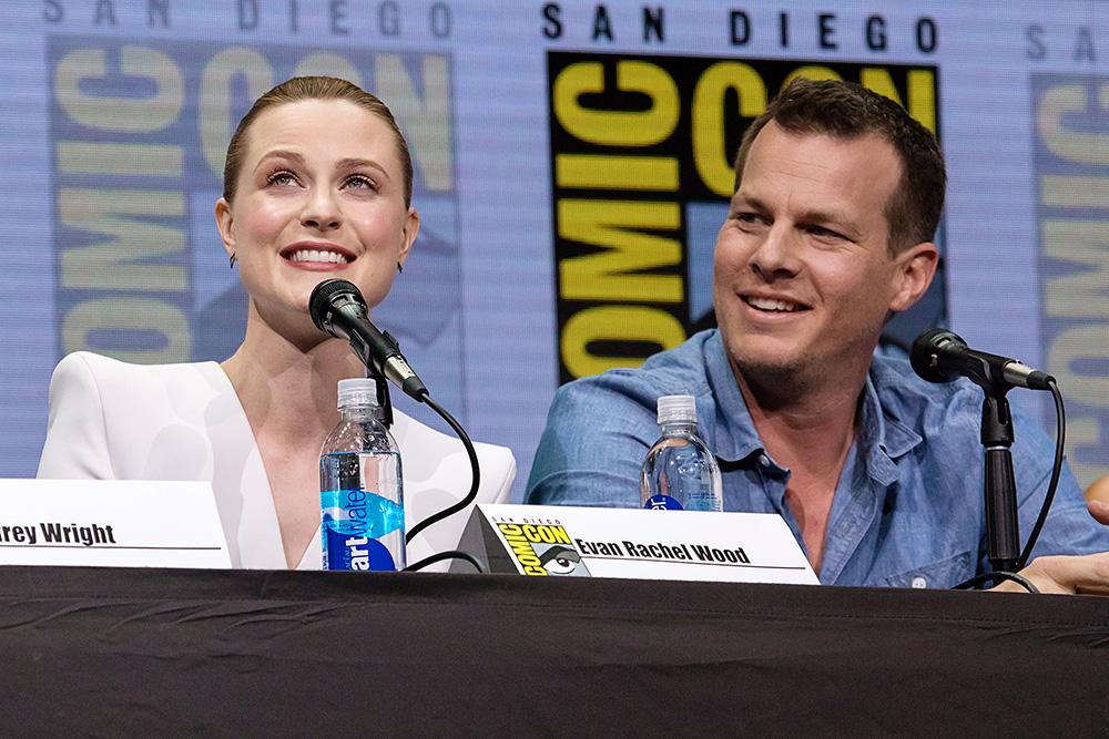 "Evan Rachel ""Dolores"" Wood and Jonathan Nolan"