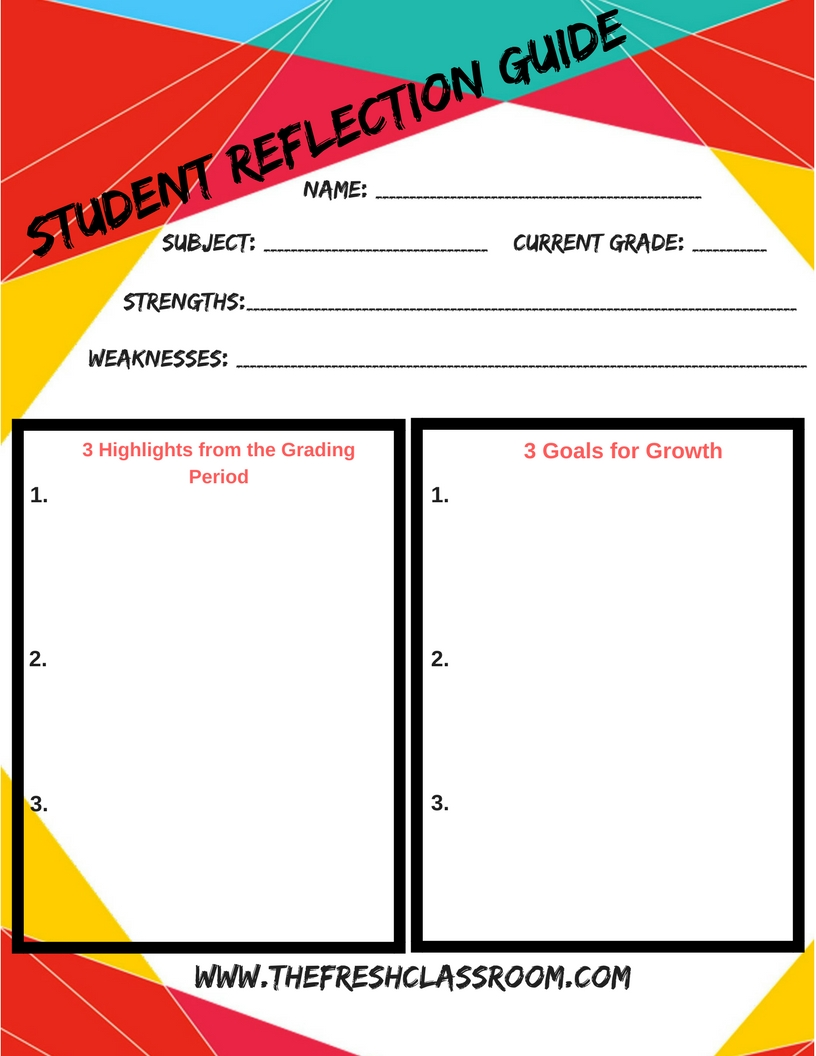 Use this handy tool to get your students prepared for their student-led conferences! If you missed the video that explains how to plan these conferences, click the button below to check it out and get started today!