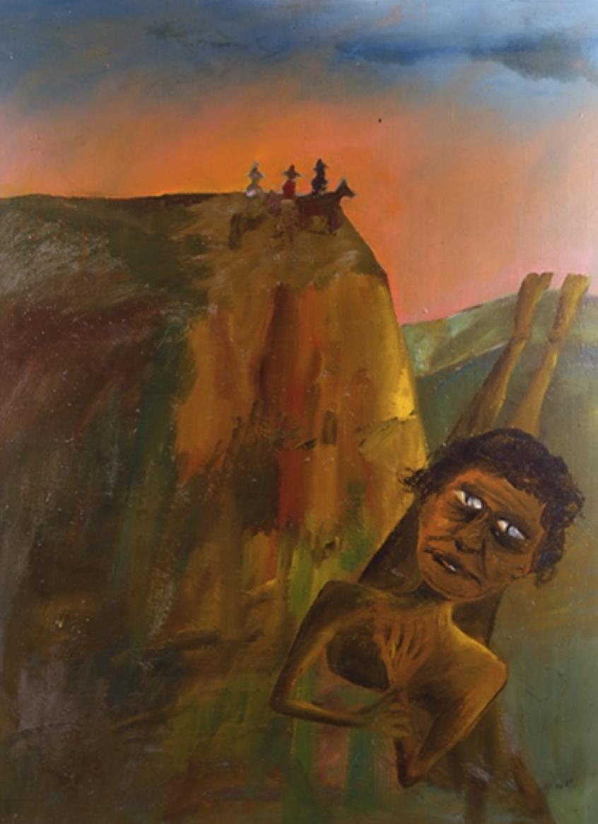 Figure 2. Sidney Nolan  Aboriginal Hunt  1947 Ripolin enamel on composition board 122 x 92 cm © Sidney Nolan Trust