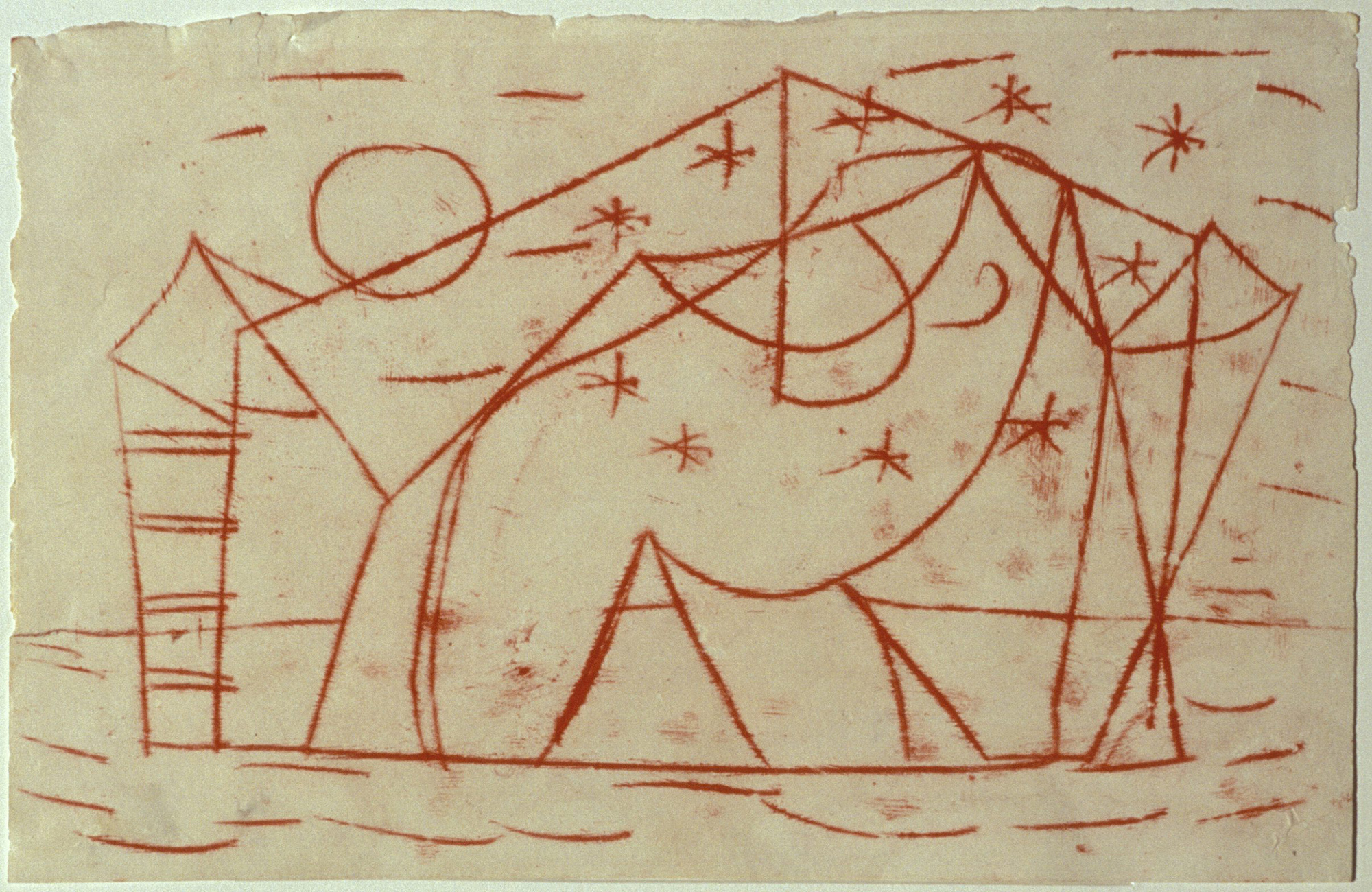 Sidney Nolan  Abstract Drawing  c.1940 transfer drawing on tissue paper 28.5 x 44.5 cm Heide Museum of Modern Art, Melbourne Bequest of John and Sunday Reed 1982 © Sidney Nolan Trust