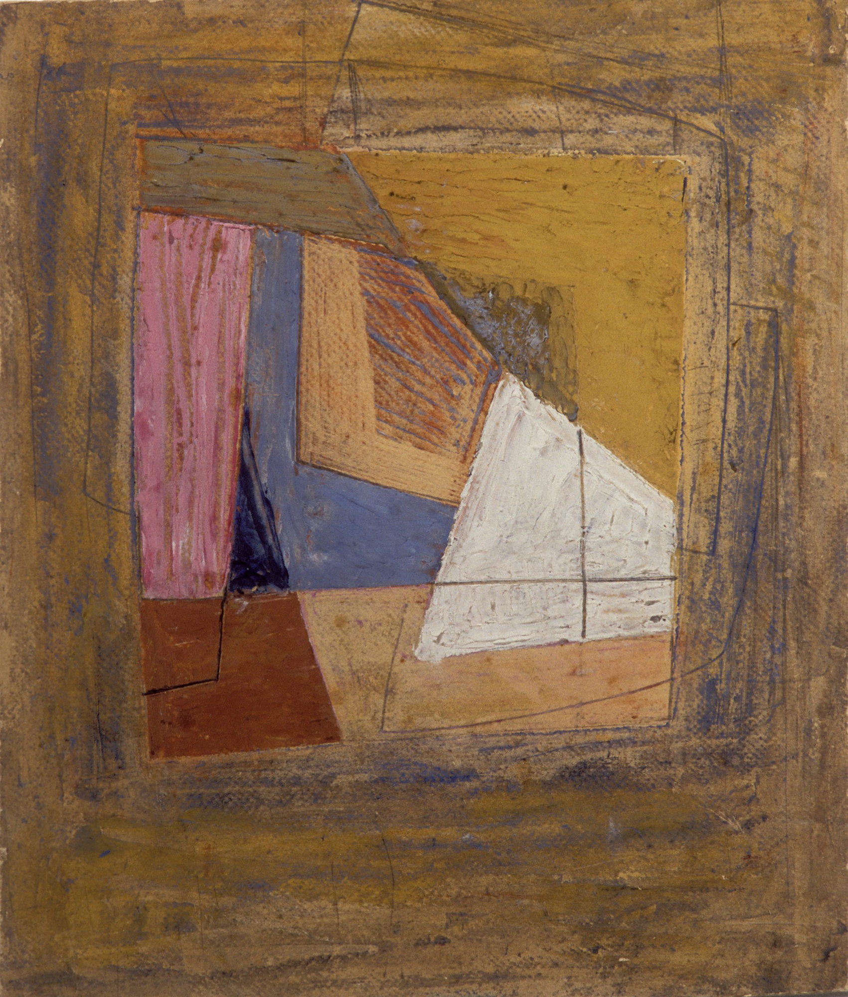Sidney Nolan  Untitled (Cubist Abstract)  c.1939 oil and pencil on cardboard 31.5 x 26 cm Heide Museum of Modern Art, Melbourne Gift of the family of Martin Smith 1999 © Sidney Nolan Trust
