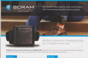 SCRAM Continuous Alcohol Monitoring Flyer