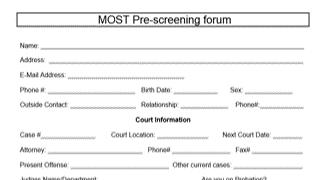 MOST Program Fillable Pre-Screening Form