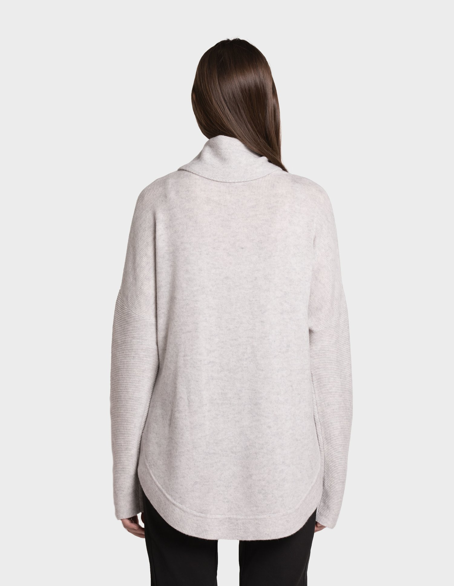 Birdie Cashmere Jumper Tora Rolled Turtle Neck Dove — Covet & Love