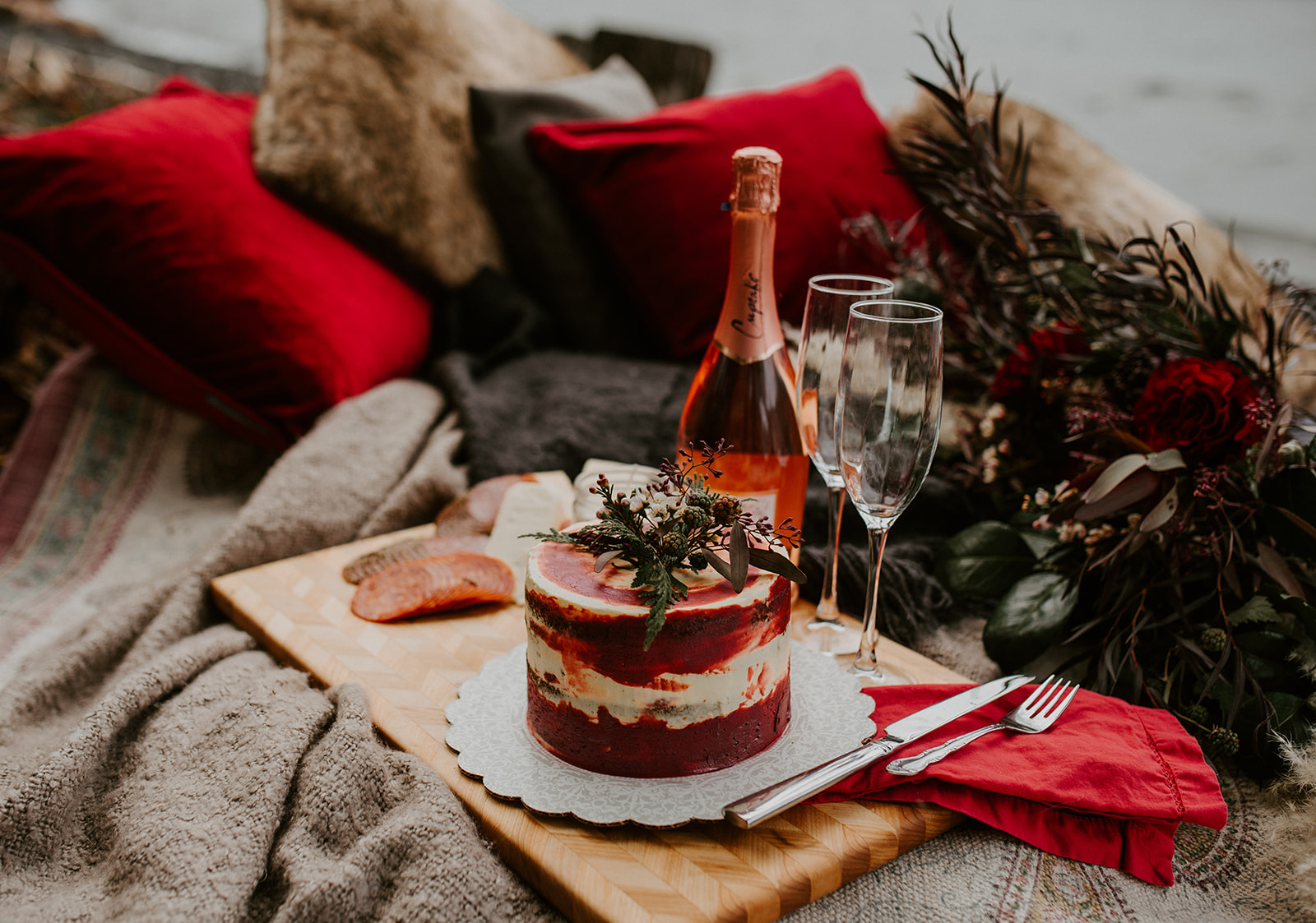 Cozy Valentine's Day Elopement Inspiration with Wandering Love Collective