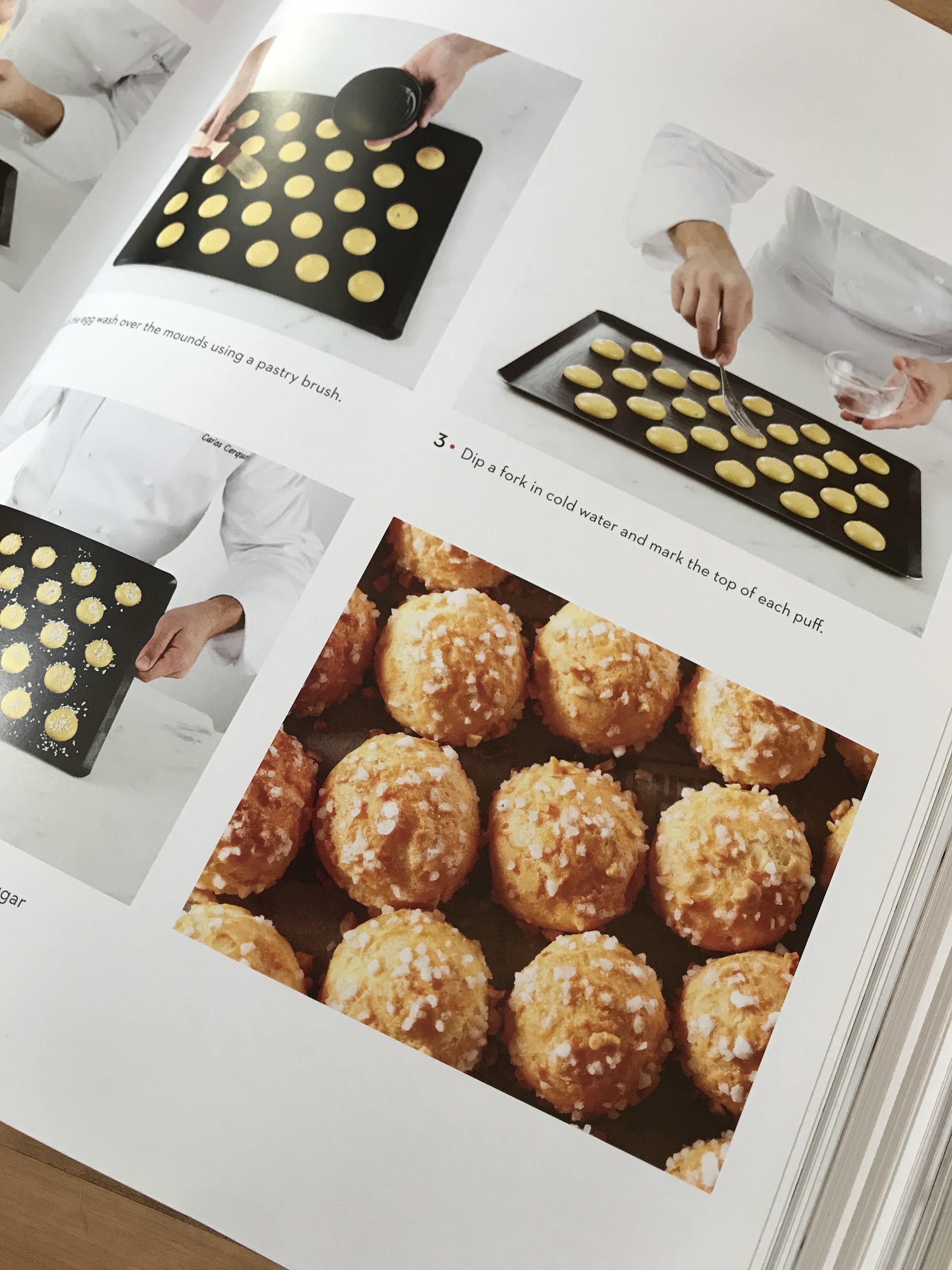 Sugar crusted cream puffs.