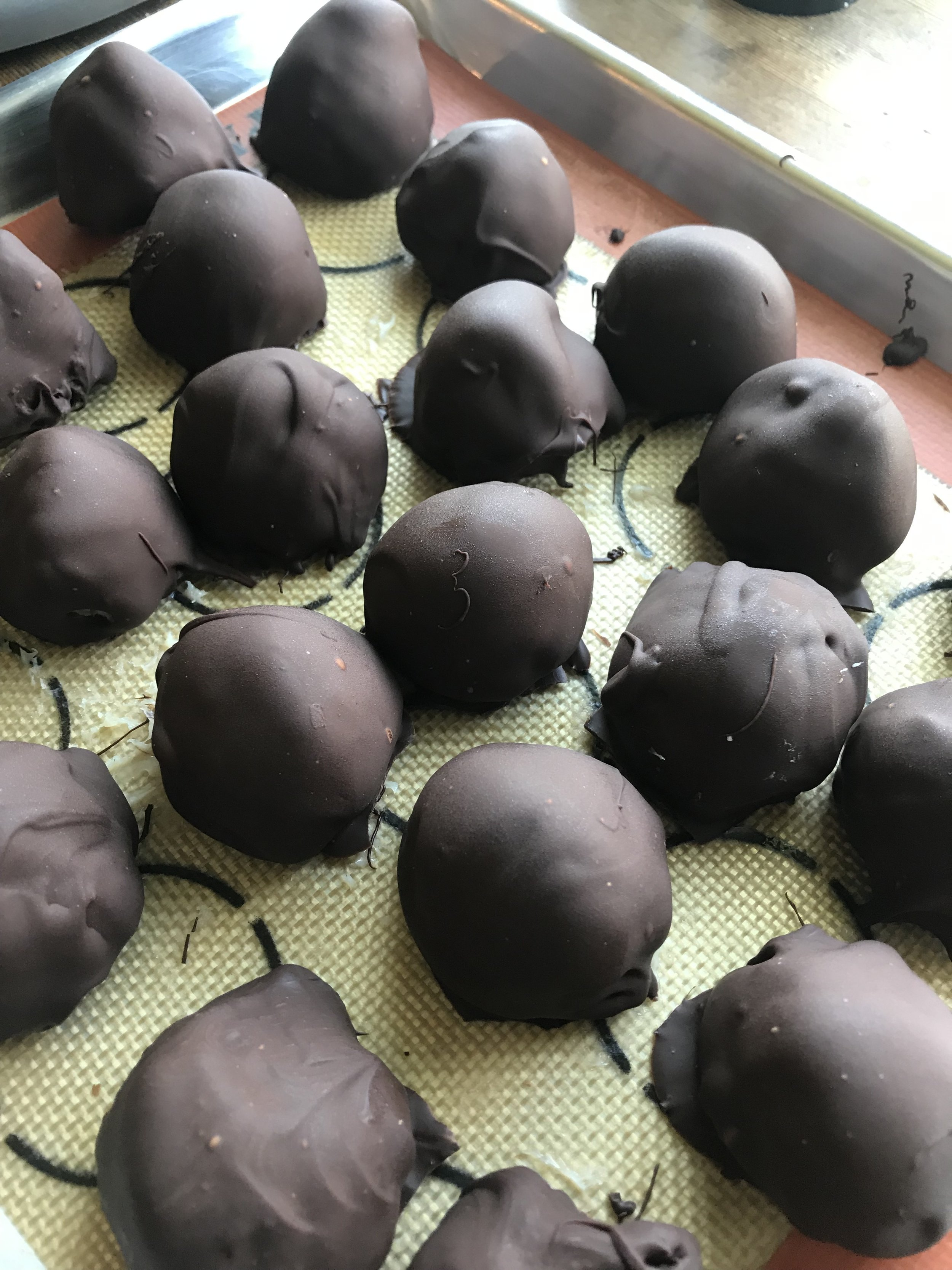 The tempered chocolate has such a lovely snap and texture to it.