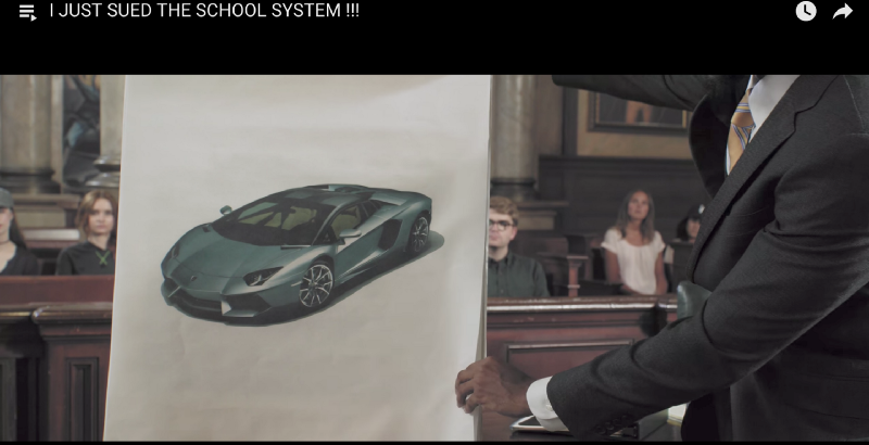 A car from today, screen shot from  Prince Ea's YouTube video