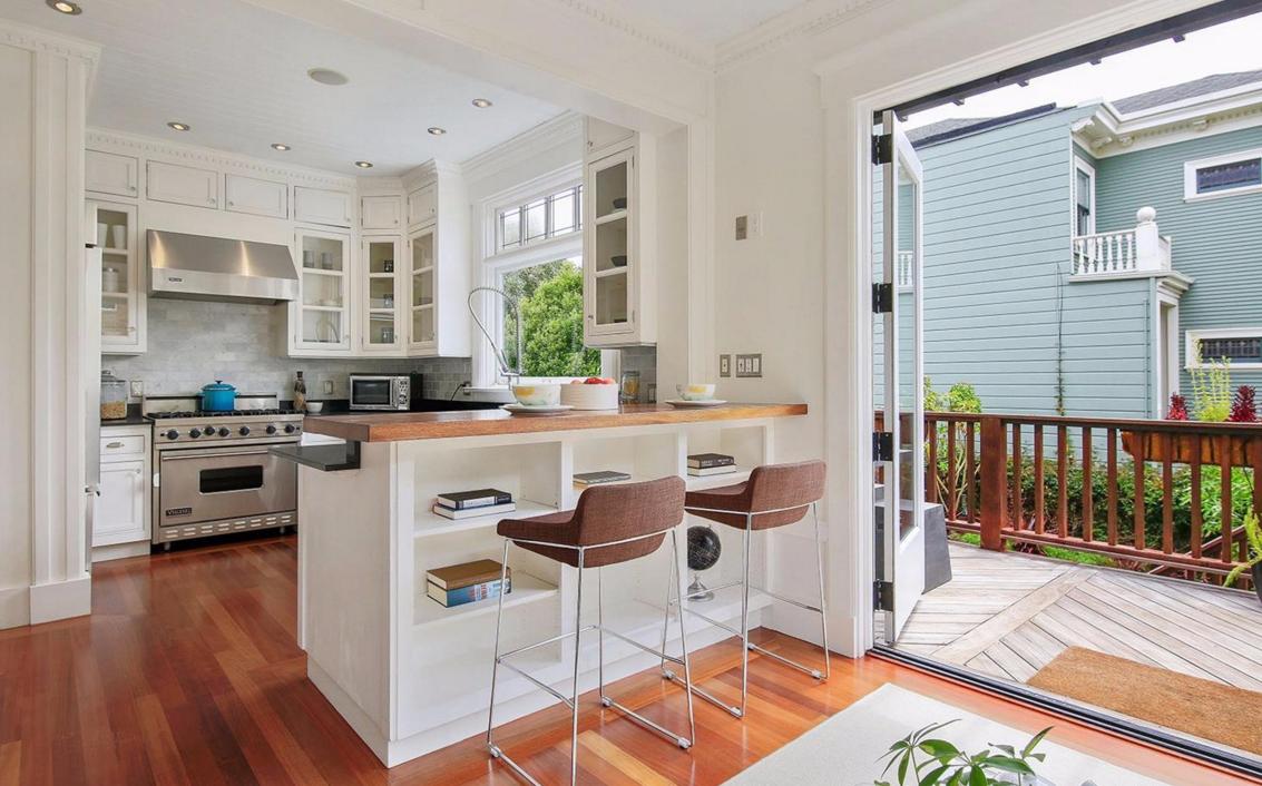2153 Lake Street - kitchen/deck