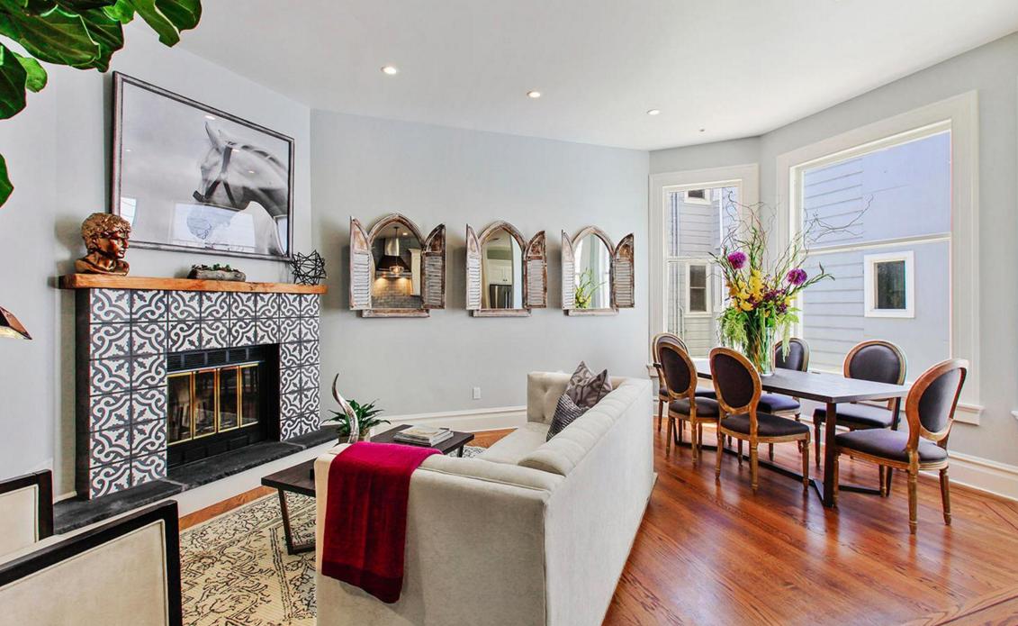 617 Broderick Street - living/dining room