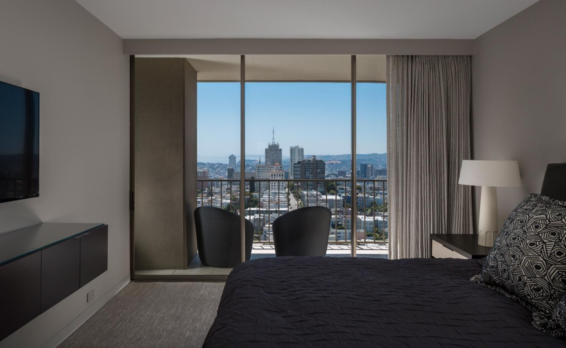 999 Green Street #2604 - bedroom with views