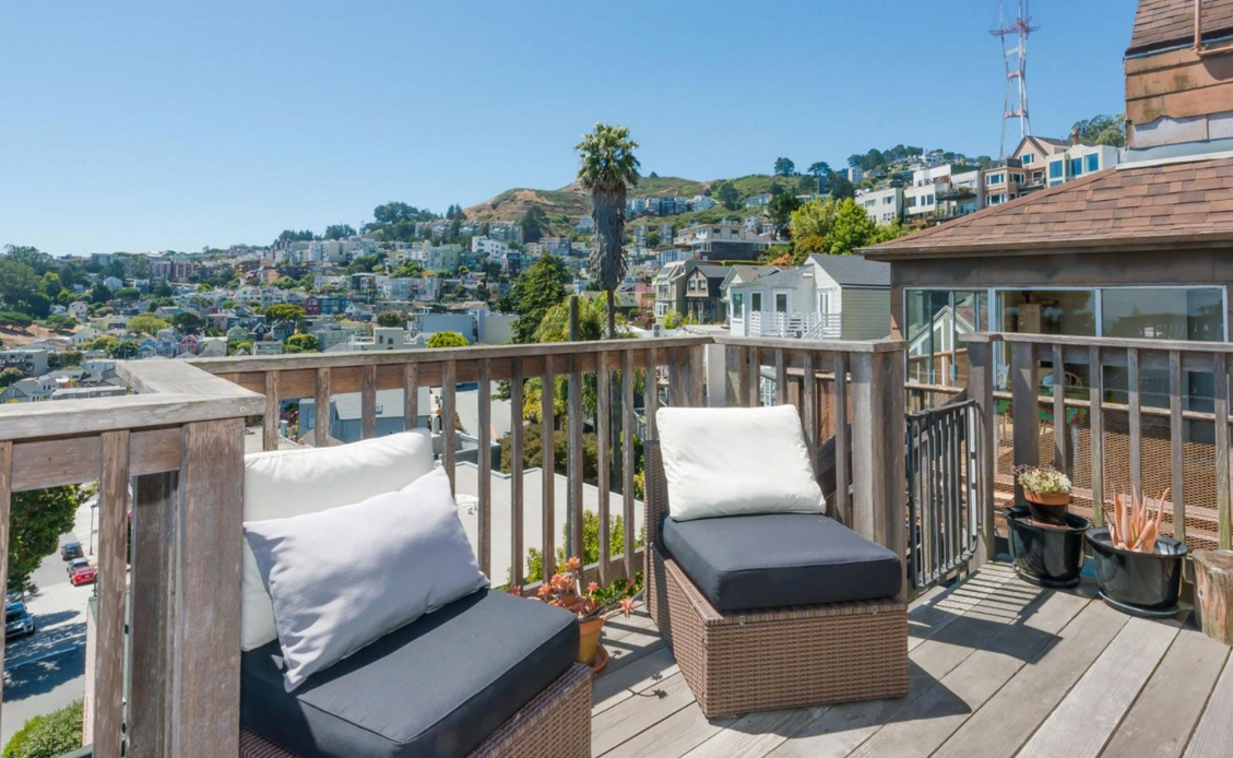 5 Mars Street - deck with Sutro Tower view
