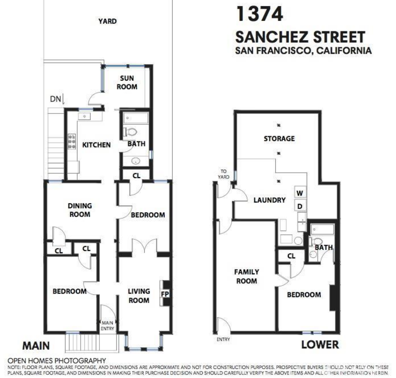 1374 Sanchez Street - Floor Plan
