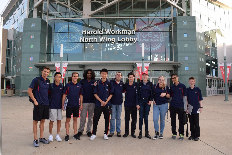 Team 1437 at the VEX World Championship 2017