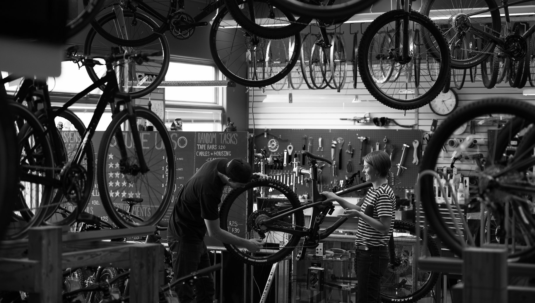 OUR MISSION - At Fairhaven Bicycles, our mission is to provide a fun, safe and informative bicycle shopping experience. We are experienced, enthusiastic and focused on getting you on the right bike for your riding needs or into the correct gear for what you ride. Our diverse product selection is curated to suit the needs of nearly all types of riders, whether you are riding daily for transportation, putting in road miles, searching for more singletrack or cruising along the waterfront. We have bikes in stock and ready to ride. We also offer a large selection of kids' bikes for young riders of all ages.Of course, the experience doesn't always have to be about the bike. Fairhaven offers a sizeable clothing selection for women, men, and kids, in addition to all the accessories and gear you might need to make the ride more enjoyable.The bike shop is nothing without the shop and our service department is top notch. We have a quick turnaround time, a large parts selection in stock and mechanics with deep and wide-ranging knowledge of bicycle repair.Fairhaven Bicycles also offers demo bikes. We have an easy online reservation system on our website with walk-in options occasionally available as well.